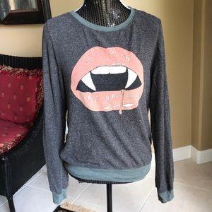 Wildfox women's sweater Vampire Lips, Size small